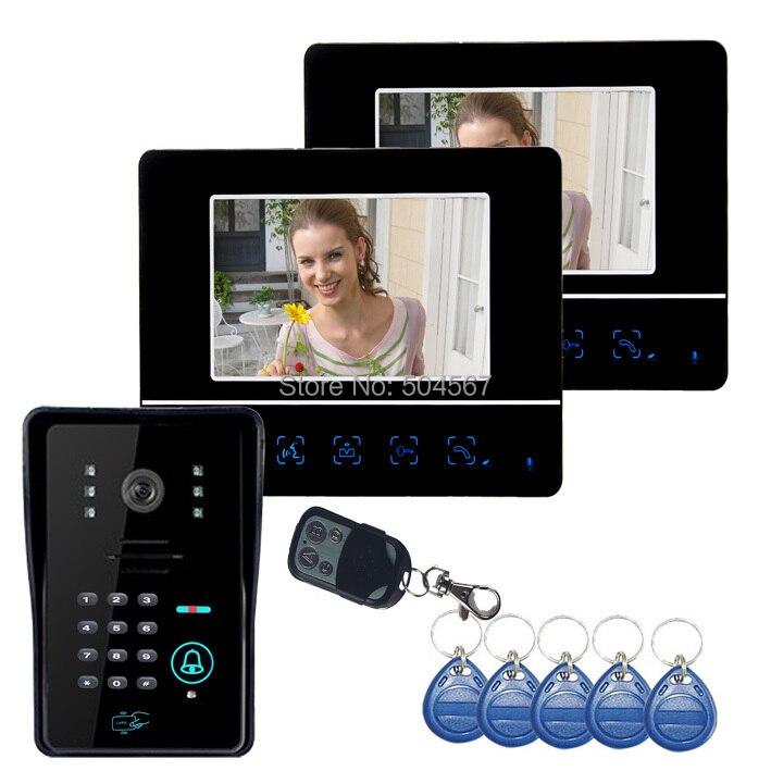 7  Video Door Phone DoorBell Intercom System Touch Panel Door Lock RFID Keyfobs 1V2-in Video Intercom from Security u0026 Protection on Aliexpress.com   Alibaba ...  sc 1 st  AliExpress.com & 7