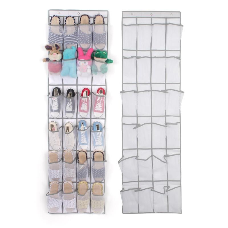 Organizer Underwear Storage-Bag Clothing Wardrobe Wall-Mounted Hanging-Shoes 24-Pockets