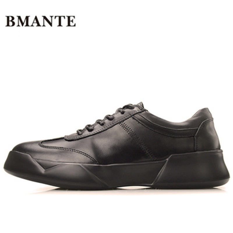 New Men Genuine Leather Shoes Luxury Trainers Summer Male Adult Shoes Casual Flats Solid Spring Black Lace-Up Shoes ege brand handmade genuine leather spring shoes lace up breathable men casual shoes new fashion designer red flat male shoes