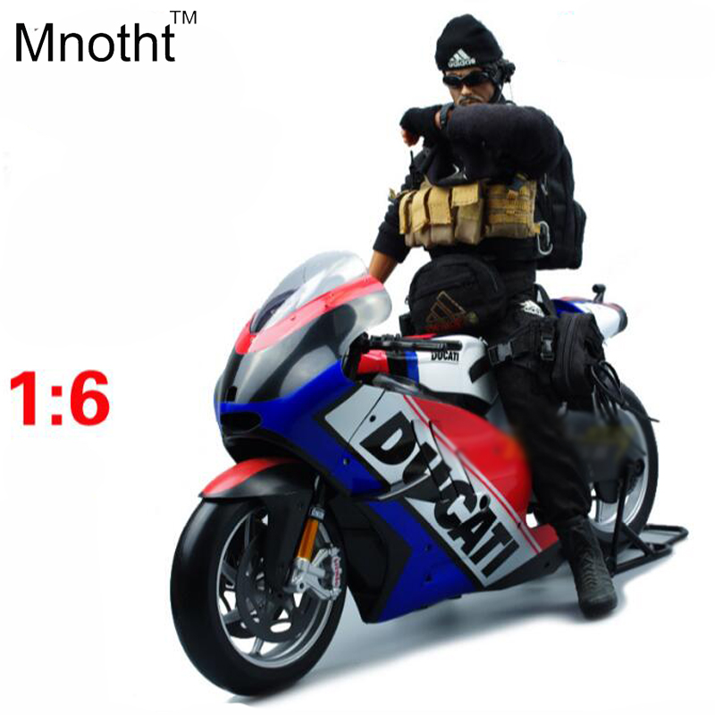 1:6 DCT Desmosedic Motorcycle Model Diecast Mini Flag Version Motorcycle Vehicle Toys Gift for Kids Birthday and Collection 1 6 diecast model bike yamaha cross country motorcycle newray