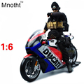 1:6 DCT Desmosedic Motorcycle Model Diecast Mini Flag Version Motorcycle Vehicle Toys Gift for Kids Birthday and Collection