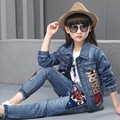 Girls Suit Of Fashion Cowboy For Girls Set Of Spring Autumn New Children Cowboy Clothing Casual Girls Set Children Clothing