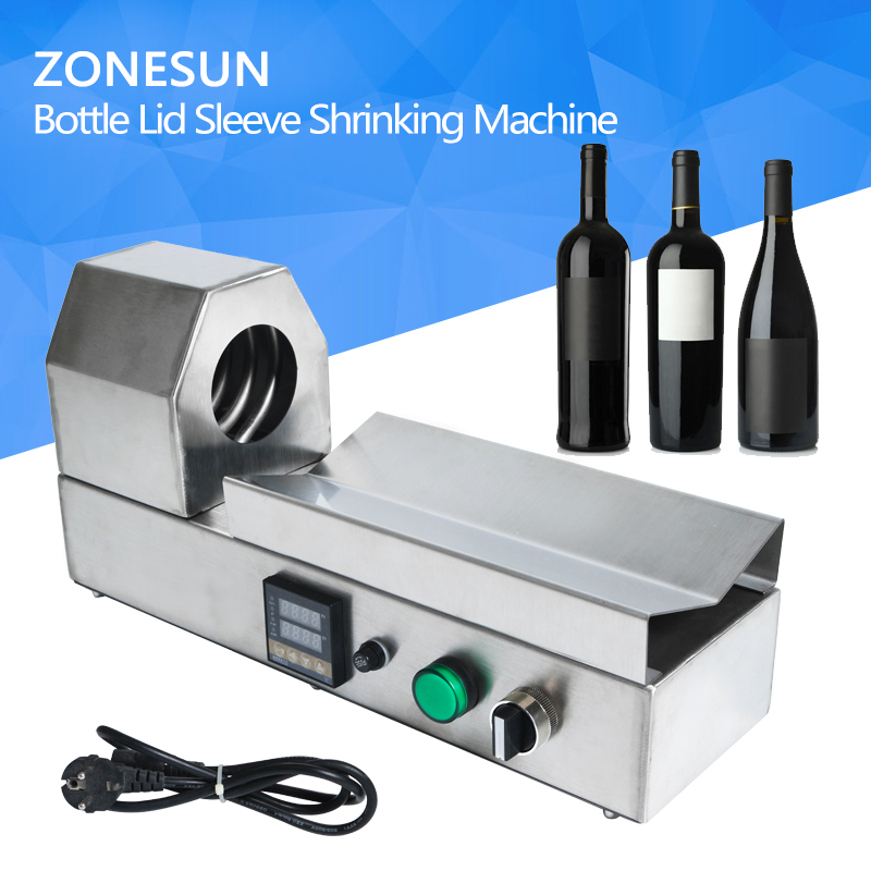 PVC tube shrinking machine bottle lid sleeve shrinking machine wine bottle cap capping shrinking tool equipment PVC PP POF film perfume bottle sprayer pump lid cap seal crimping machine pliers tool for 13mm 15mm 20mm optional