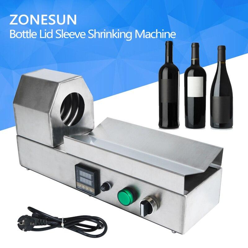 ZONESUN PVC tube shrinking machine bottle lid sleeve wine bottle cap capping shrinking tool equipment PVC PP POF film