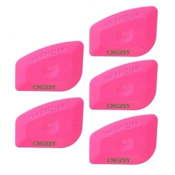 цена 5PCS Mini Pink Squeegee Vinyl Wrap Tools Polygon Edge Plug Corner Trimming Car Window Scraper Automotive Film Tool 5A25 онлайн в 2017 году