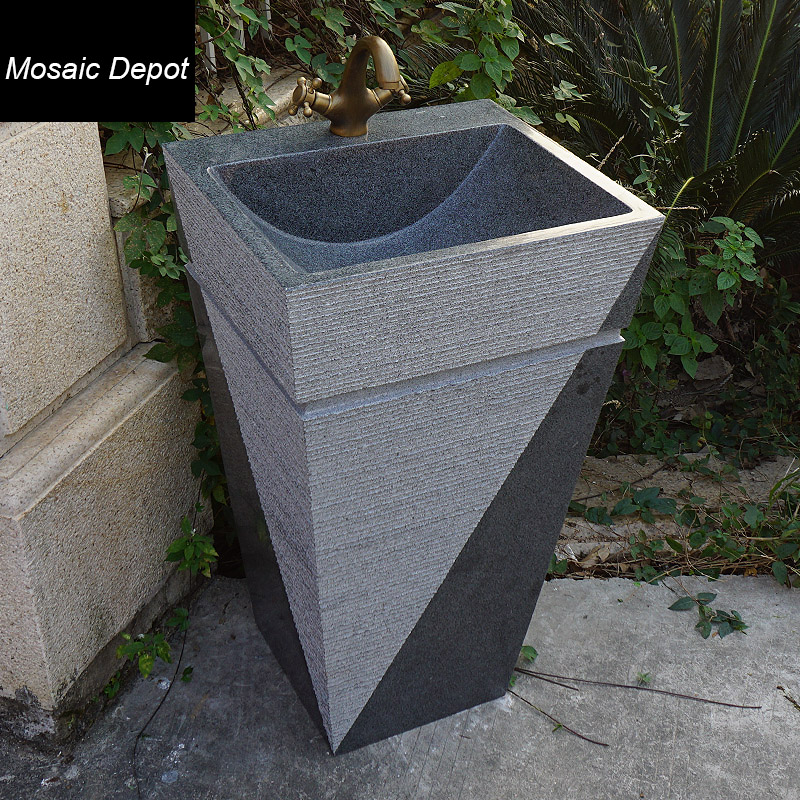acquista all'ingrosso online granito lavello in pietra da ... - Bagno Lavabo In Pietra Trogolo