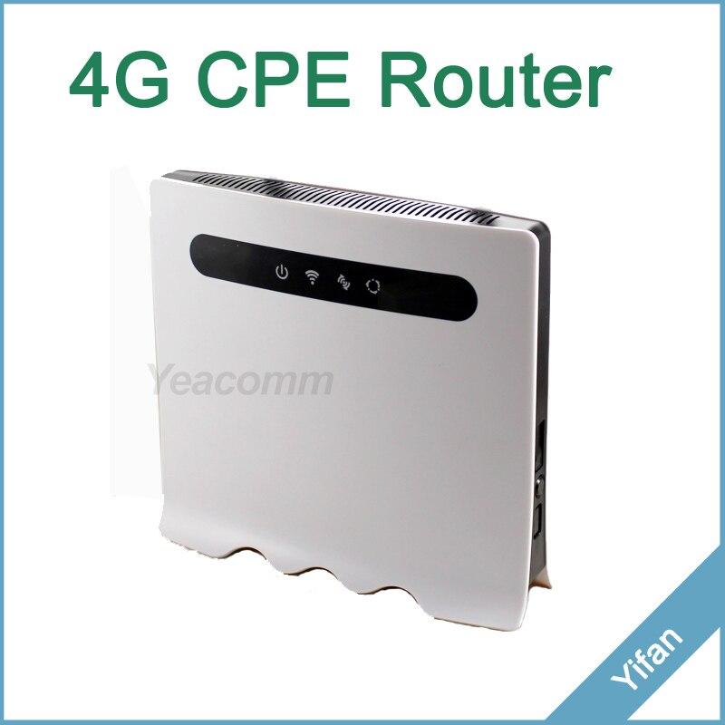 Support 32 utilisateurs YF118 LTE CAT4 150 M 4G TDD FDD intérieur 4g CPE routeur PK Huawei B593