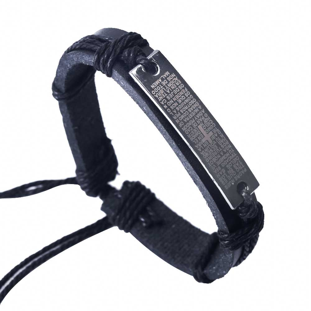 Bible Cross Leather Bracelets
