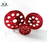 LIGHT WEIGHT CRANK PULLEY For Nissan skyline GTR RB20 RB25 RB26 PULLEY RED