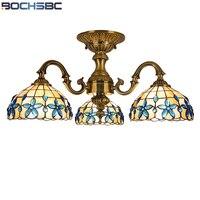 BOCHSBC Lilac Chandelier Shell Lights Chandelier Lamp for Bedroom Living Room European LED Hanging Lamps Lampara de techo