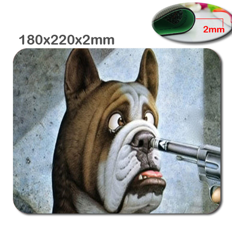 Professional fast printing antiskid durable 2016 top fashion funny dog wallpapers high quality gaming mouse pad 220*180*2(MM)