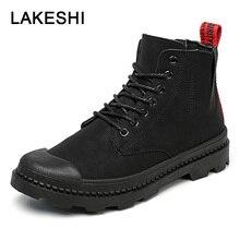 Quanzixuan Boots Men Shoes Fashion Winter Shoes Men Ankle Boots Lace Up Men's Motorcycle Martin Boots Men Boots Oxfords Shoes