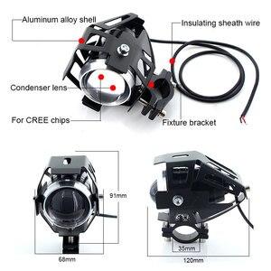 Image 2 - 2 sztuk białe reflektory motocykla lampa pomocnicza U5 led reflektor motocyklowy akcesoria 12V moto DRL spot reflektory przednie