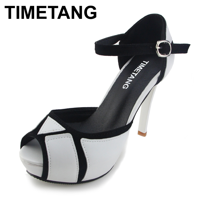 TIMETANG Free Shipping 2017 Hot Vogue High Heels Shoes Fashion Party Pumps Lady Sexy Buckle Platform Sandals Hot Sale Size 35-39 anmairon shallow leisure striped sandals women flats shoes new big size34 43 pu free shipping fashion hot sale platform sandals