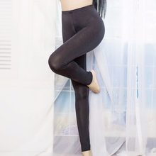 4d4294bf780be8 Black Sexy Ice Silk Transparent One-piece Leggings See Through Pants Erotic  Lingerie Club Wear Zipper open the Crotch Seamless