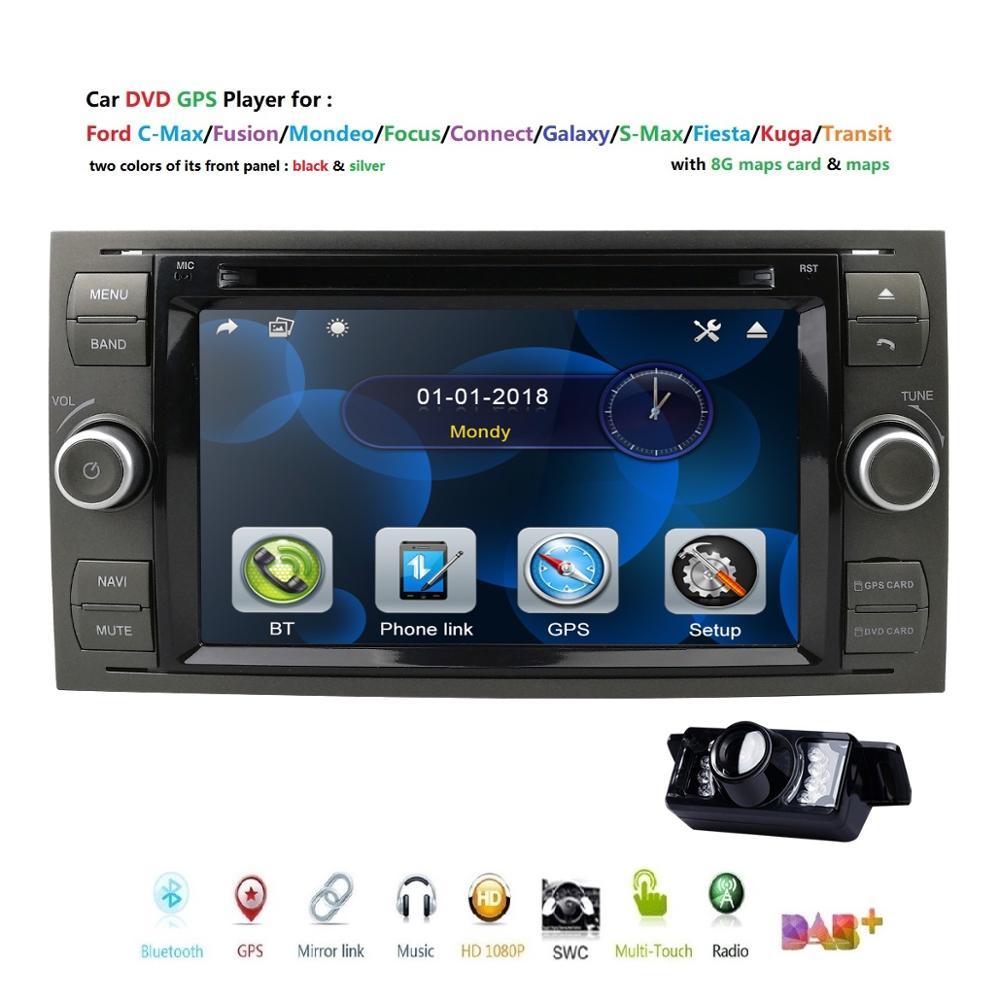 Car DVD Mirror Link Gps Navigation Rear-Camera 16GB DAB Ford-Focus-Transit C-MAX Mondeo