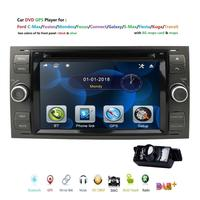 2019 Car DVD 7 gps For Ford Focus Transit C MAX Mondeo Fiest GPS Navigation Mirror link DAB+ Free rear camera 16GB Map card