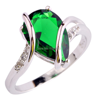 Fashion Jewelry Absorbing Green Emerald Quartz 925 Silver Ring Size 6 7 8 9 10  Women Gift Free Shipping Wholesale
