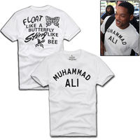 Plus Size Summer MUHAMMAD ALI Men T Shirt Hip Hop Cotton T Shirt Vintage Brand Clothing
