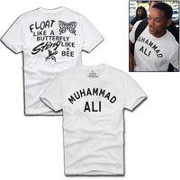 Plus Rozmiar Lato MUHAMMAD ALI Mężczyźni T Shirt Hip Hop Bawełniana Koszulka Odzież w stylu vintage Marki Hipstar Góra Koszulki Sml XL XXL XXXL