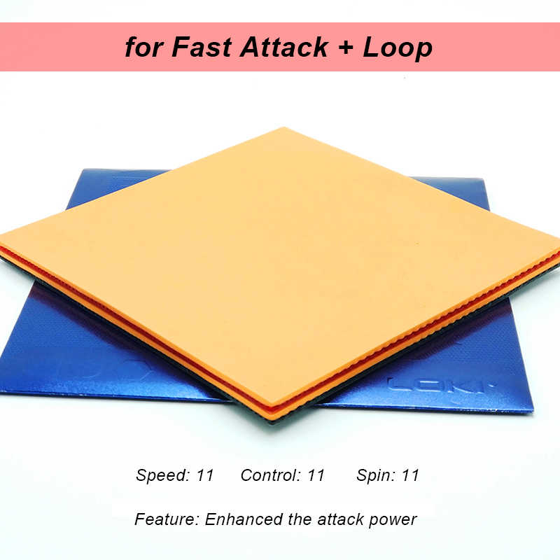 LOKI RXTON5 High Elasticity Sticky Table Tennis Rubber Red Pips In High-density Hard Sponge Pingpong Rubber for Attack/Loop