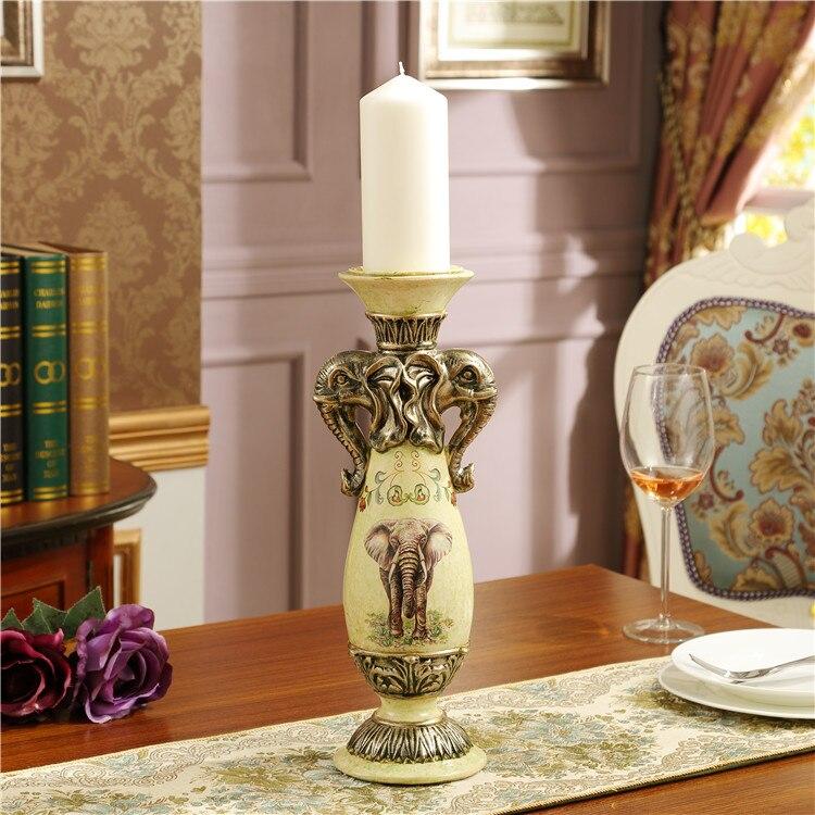 Континентальный подсвечник украшения Ретро романтическая свеча украшение стола Американская страна предметы интерьера Свадебные