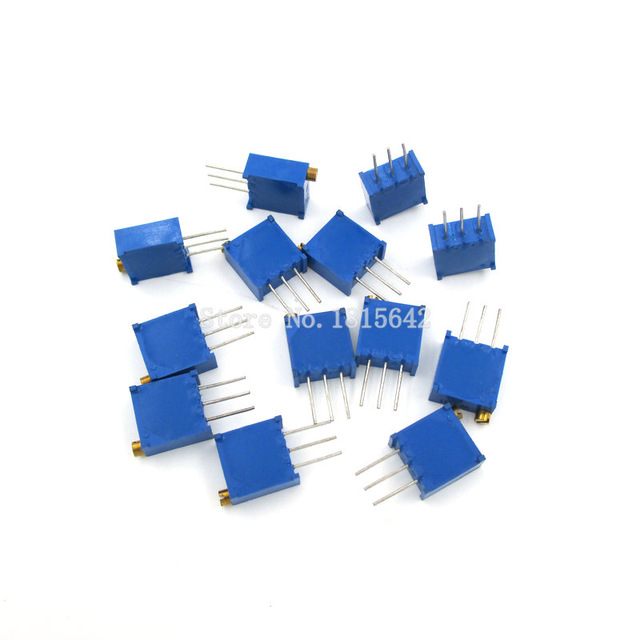 10pcs Trimmer Potentiometer Variable Resistors 3296W-104 100KΩ 100Kohm  Hot Sale
