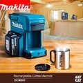 Cafetera inalámbrica japonesa Makita DCM501, cafetera recargable de 18V para exteriores fácil de llevar, cafetera de trabajo de 12V 250ml