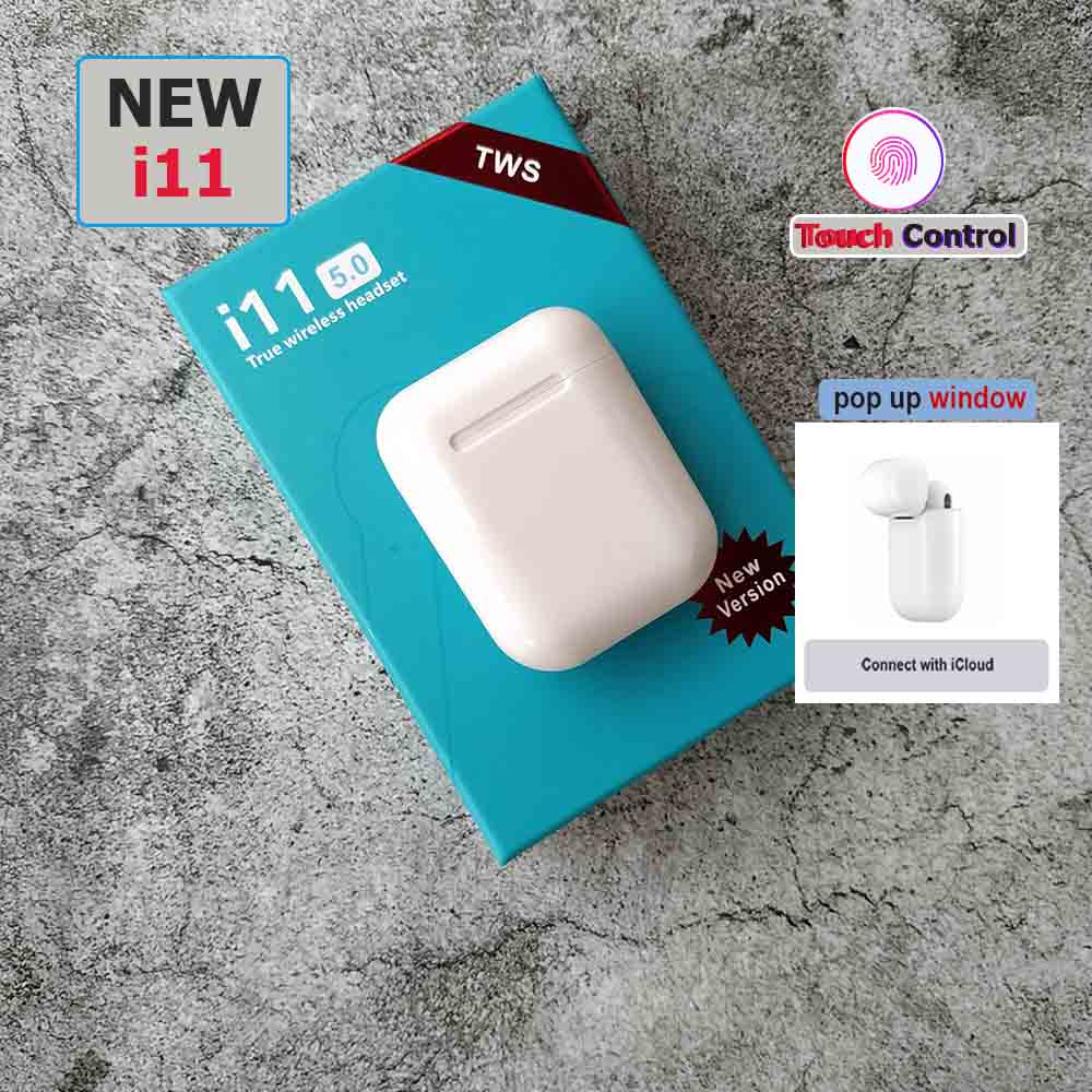 pop up Mini i11 TWS Touch Bluetooth 5.0 wireless earphone headset binaural call for iphone 7 8 fone de ouvido auriculares pk i7s