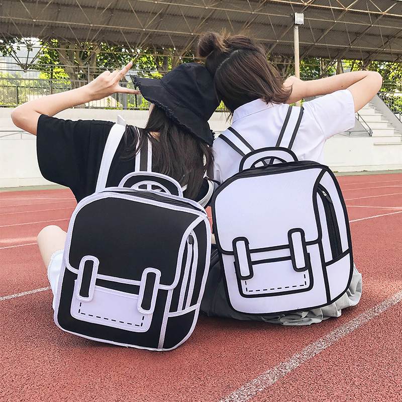 2019 Women Backpack 3D 2D Drawing Cartoon Back Bag Comic Messenger Tote Fashion Cute Student Waterproof Bags Unisex  Bolos 106