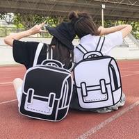 2019 Women Backpack 3D 2D Drawing Cartoon Back Bag Comic Messenger Tote Fashion Cute Student Waterproof Bags Unisex Bolos 106