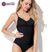 Meisou 2018 Hot Summer Women Lady Elastic Slim Sleeveless Tummy Control Vest Dress Skirt Slip Underbust Shapewear Body Shaper