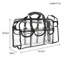 Transparent Makeup Clear Bag with 6 Pockets / 1 Side Pocket