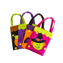 Happy Halloween Cute Witches Kids Candy Bag Packaging Children Party Storage