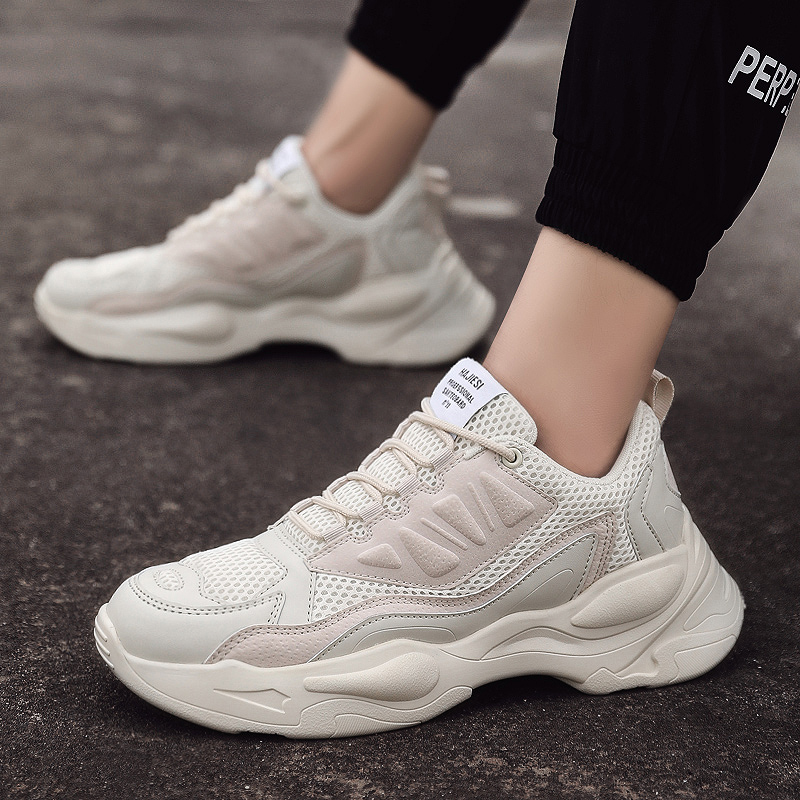 GUDERIAN 2019 New Casual Shoes Men Spring Summer Sneakers Breathable Lightweight Lace-Up Mens Fashion Footwear