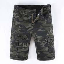Summer Fashion Camouflage Green Mens Jeans Shorts Big Pocket Army Pants Military Cargo Men Classical Short Homme