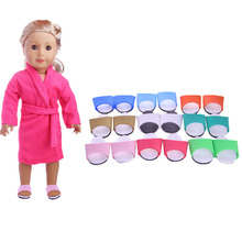 Fleta Free shipping 8color Slipper for 18inch american  doll or born baby doll accessories  Holiday gift free shipping 18inches american girl baby doll journey girl dollie