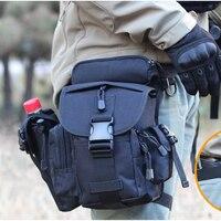 Tactical CORDURA NYLON 900D Multifunctional Military Shoulder Bags Army Leg Waist Bags Electrical Tool Thigh Bags + Kettle Bag