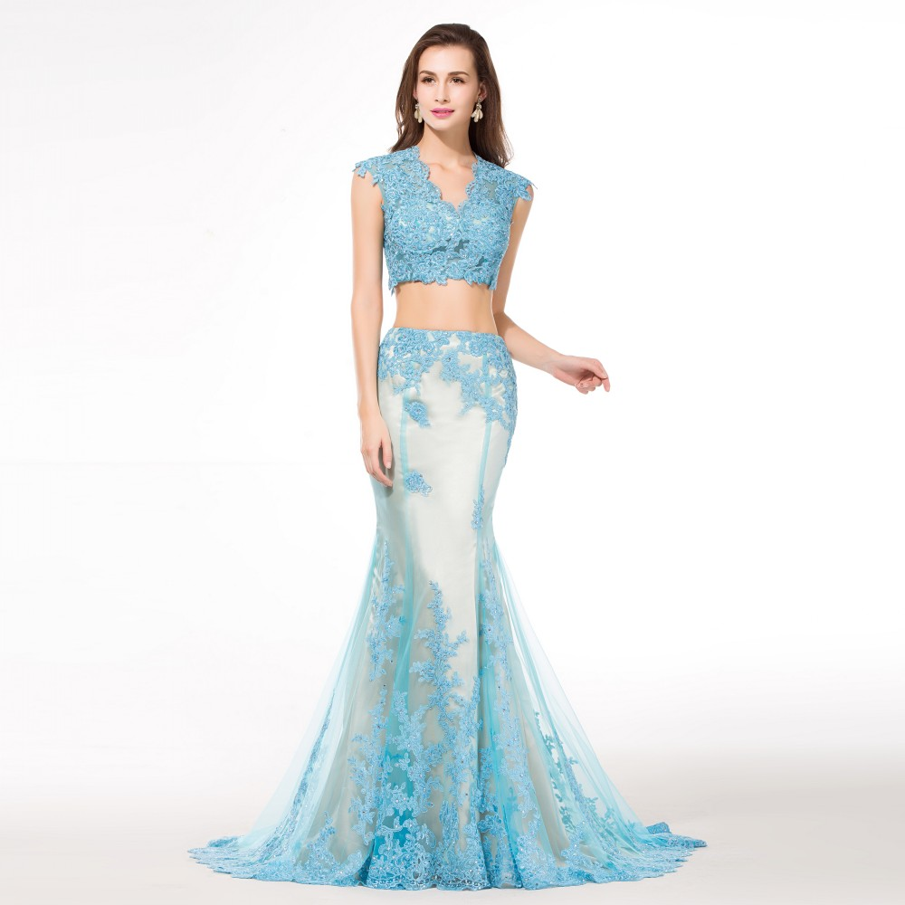 Baby Blue Mermaid Prom Dresses - Most Popular Prom Dresses Ideas 2017