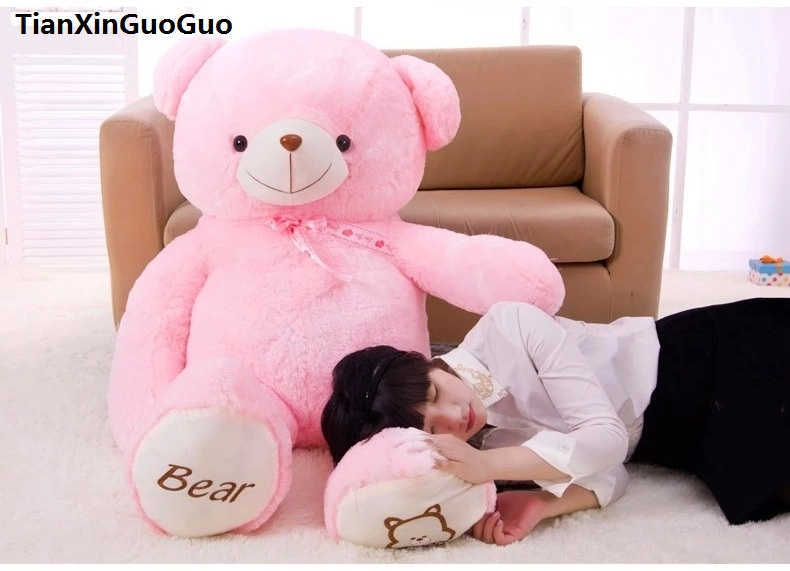 stuffed plush toy cute teddy bear toy large 120cm pink bear doll soft throw pillow,Christmas gift h0639 cute animal soft stuffed plush toys purple bear soft plush toy birthday gift large bear stuffed dolls valentine day gift 70c0074