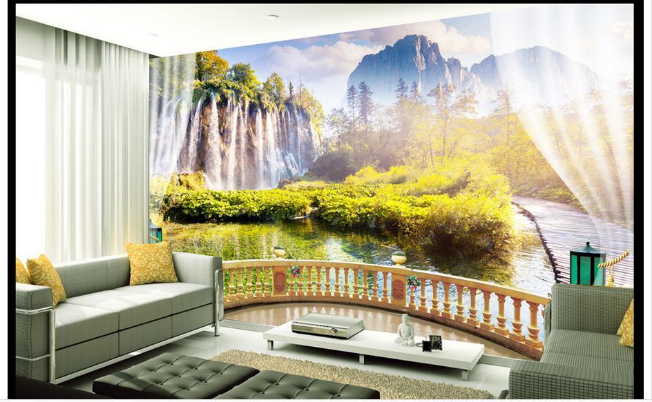 Kustom 3D Foto Wallpaper 3D Mural Dinding Wallpaper untuk Ruang