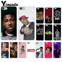 Yinuoda YoungBoy Never Broke Again Lil Baby TPU Soft Phone Cell Case for iPhone 7 7plusX XS MAX  6 6s 8 8Plus 5 5S SE XR