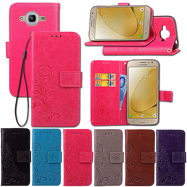 detailed look beb32 772a1 US $4.99 |Phone Cases For Samsung Galaxy J2 2016 SM J210F J210F 5.0''  Leather Flip Covers Bag For Samsung Galaxy J2 Pro Wallet Bags-in Flip Cases  from ...
