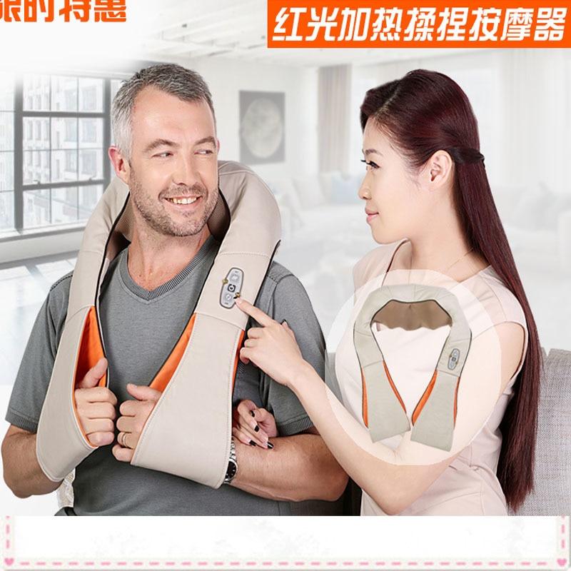 Электрический массаж. Машина плечо массаж шеи. Шаль автомобиль дома двойного назначения иглоукалывание разминание массажер для шеи, плеч