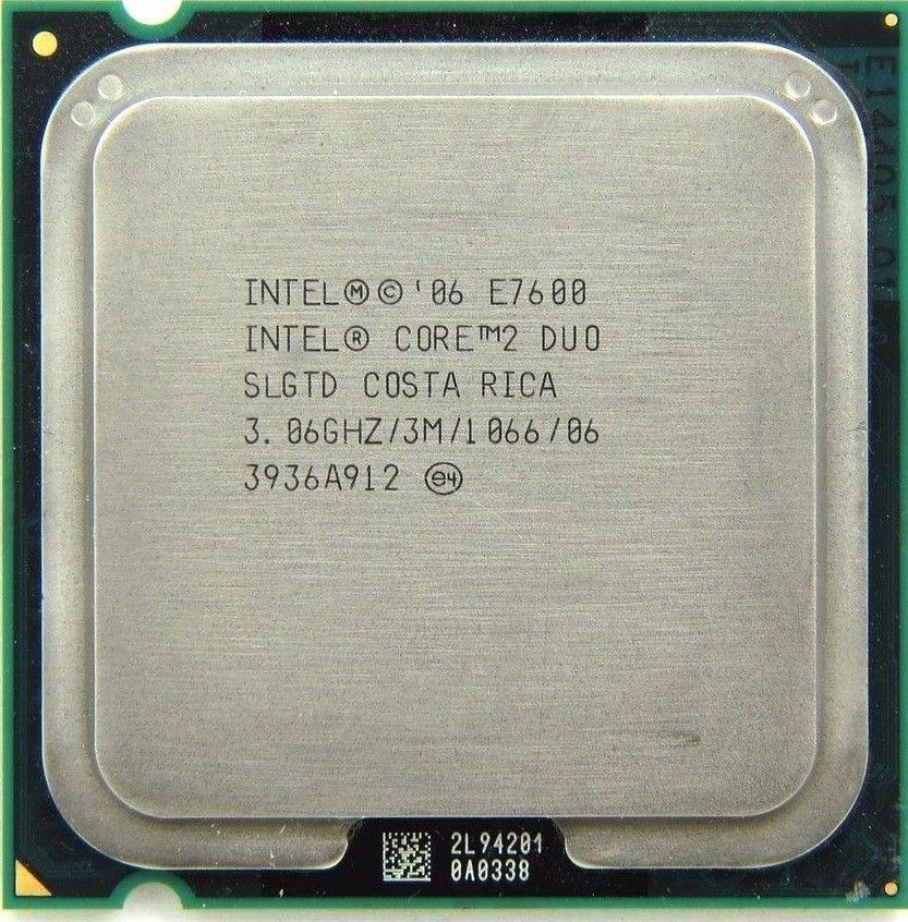 Intel Core 2 Duo E7600 SLGTD 3.06GHz 3MB Desktop CPU Processor LGA775