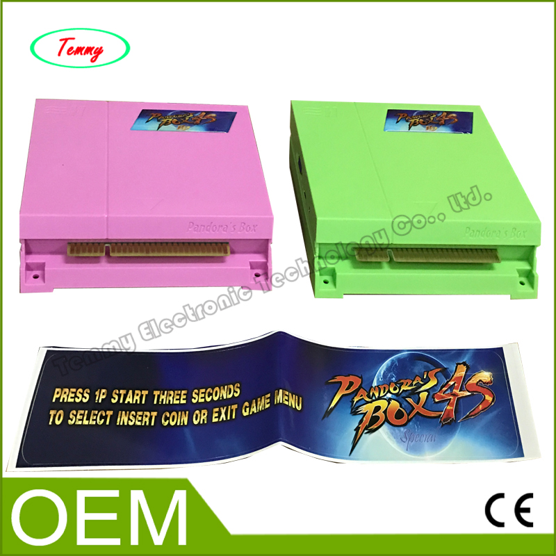 ФОТО Pandora's Box 4S PCB game cartridge multi games 680 in 1,Jamma game board /game motherboard for fighting game machine
