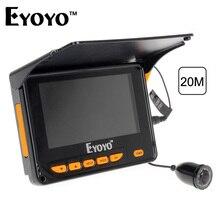 """Eyoyo 20 Mt HD 1000TVL Unterwasser Eisfischen Kamera Video Fisch-sucher 4,3 """"LCD 8 stücke IR LED 150 grad Winkel"""