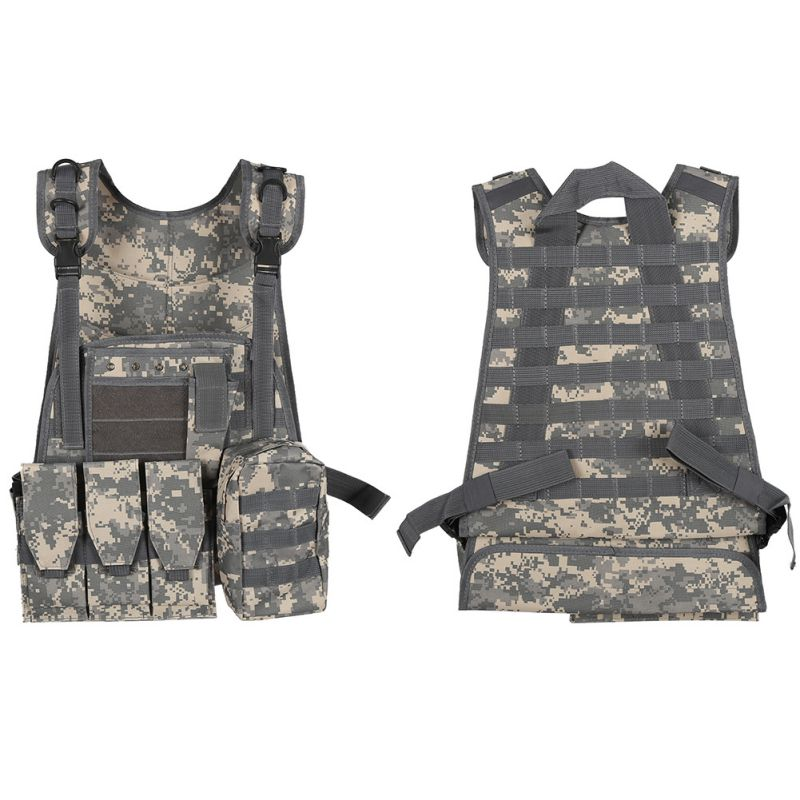 7 Colors Outdoor Camouflage Hunting Military Tactical Vest CS Equipment Wargame Body Armor Hunting Vest7 Colors Outdoor Camouflage Hunting Military Tactical Vest CS Equipment Wargame Body Armor Hunting Vest