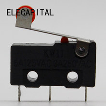 10 x Roller Lever Arm PCB Terminals Micro Limit Normal Close/Open Switch KW Switches 5A Favorable Price(China)