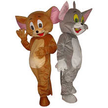 2 pcs Tom Cat and Jerry Mouse mascot costume adult size Tom Cat and Jerry Mouse mascot costume for Halloween Carnival party - DISCOUNT ITEM  40% OFF All Category